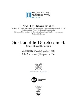 Sustainable Development - wykład prof. Klausa Mathisa